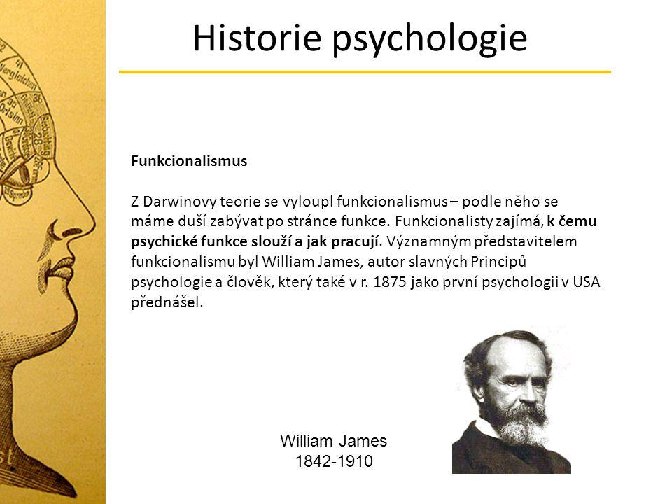 Historie psychologie Funkcionalismus