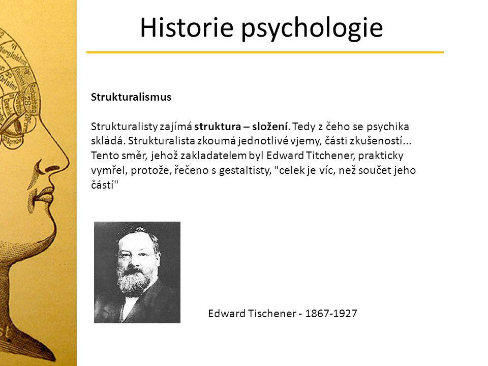Historie psychologie Strukturalismus