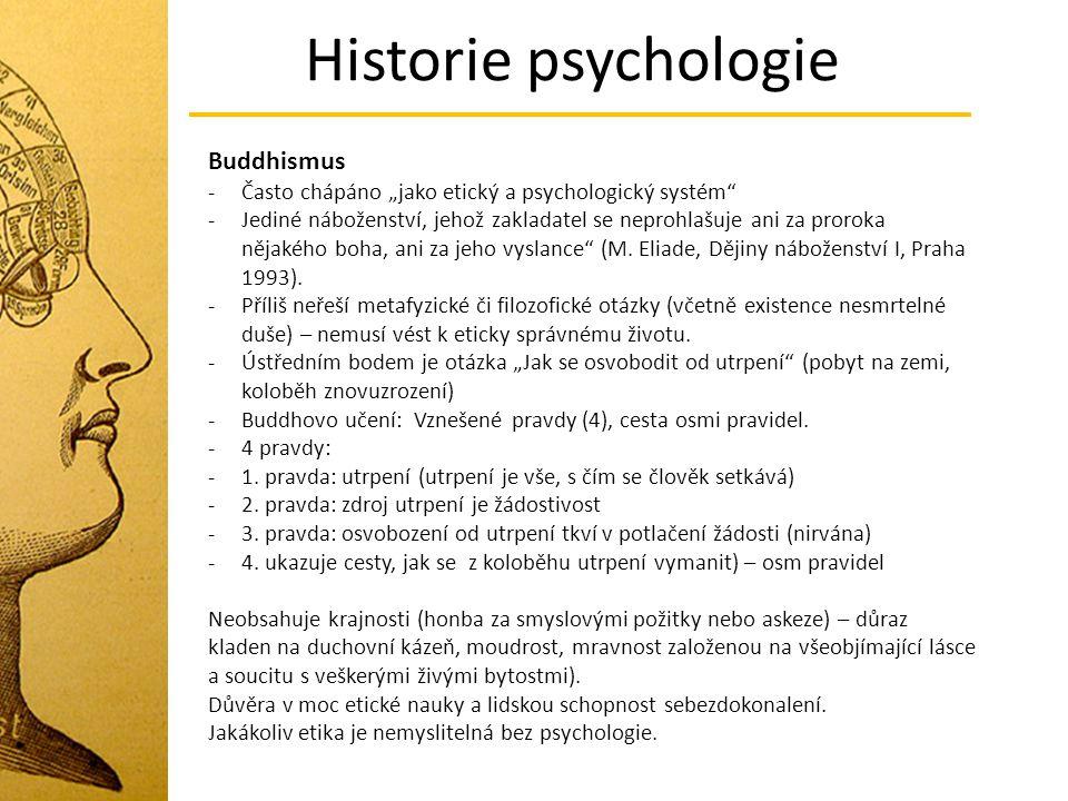 Historie psychologie Buddhismus