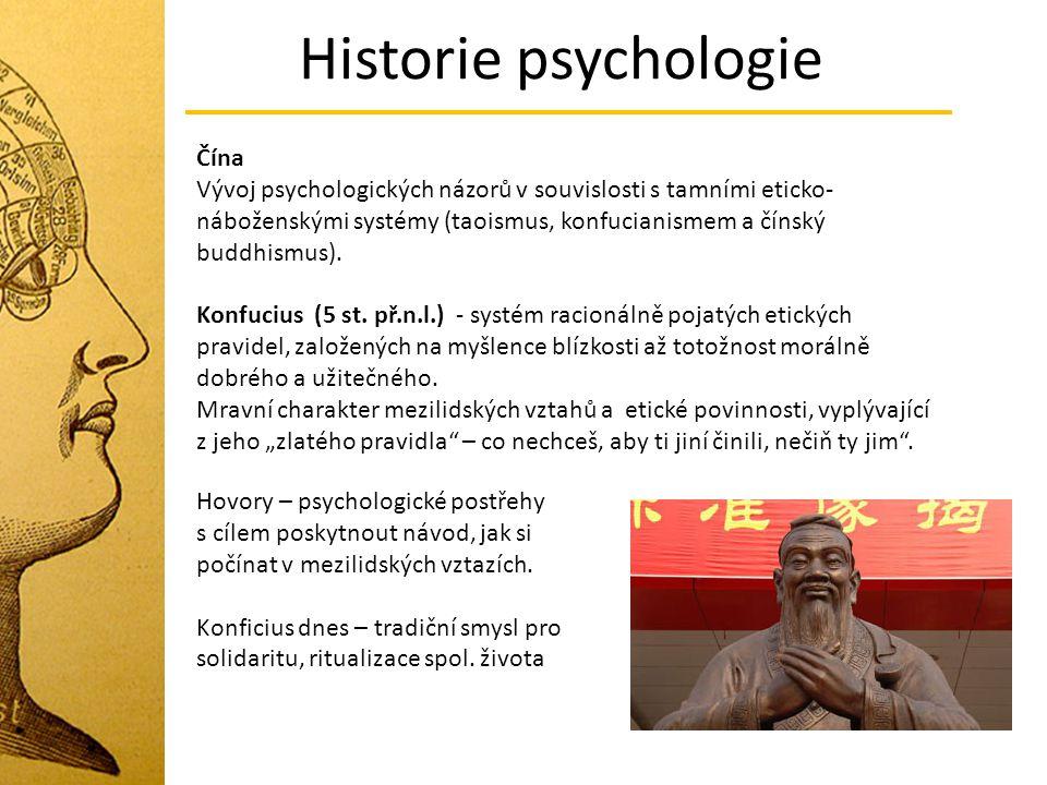 Historie psychologie Čína
