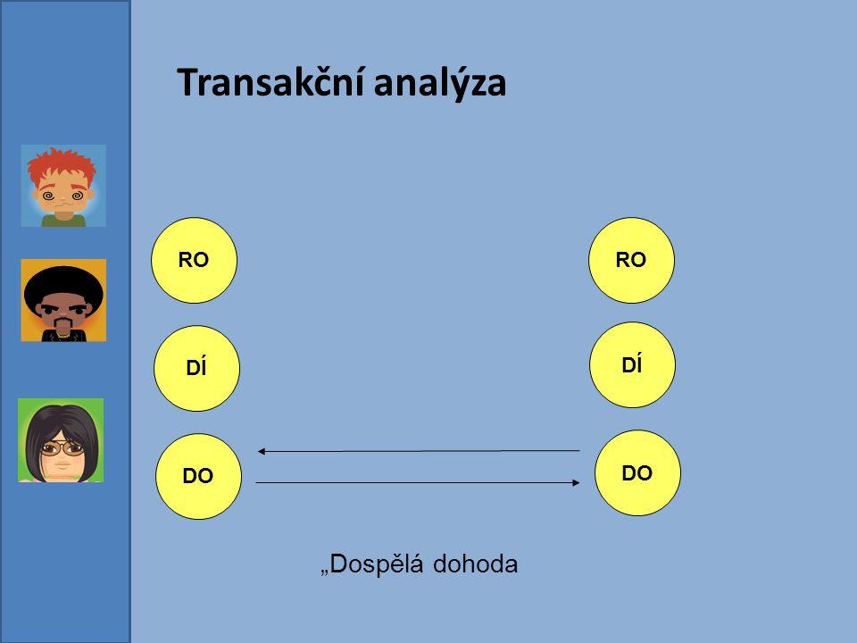 """Transakční analýza RO RO DÍ DÍ DO DO """"Dospělá dohoda"""