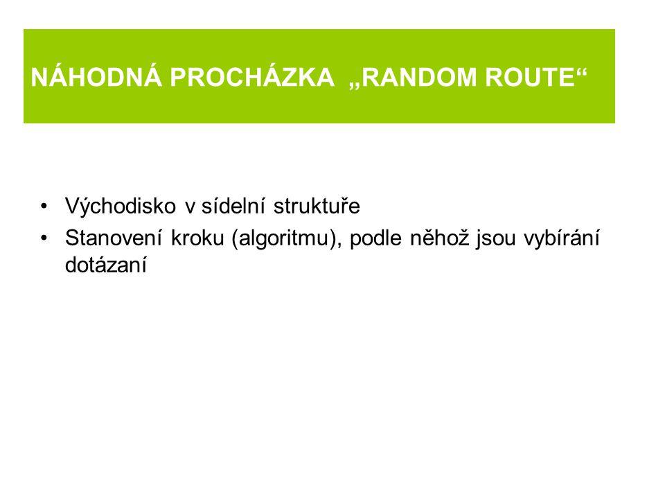 """NÁHODNÁ PROCHÁZKA """"RANDOM ROUTE"""