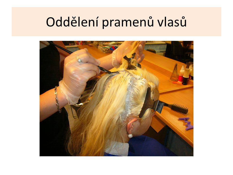 Oddělení pramenů vlasů