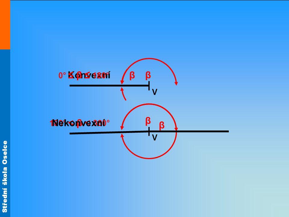 β 0° ≤ β ≤ 180° Konvexní β V β β 180° < β < 360° Nekonvexní V