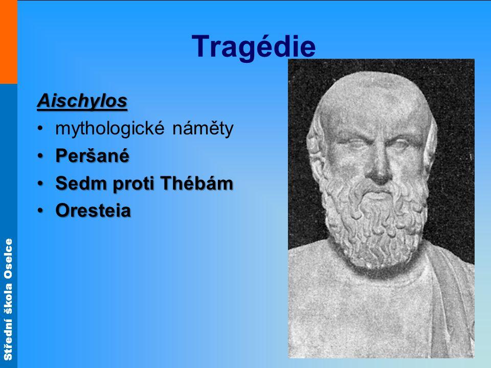 Tragédie Aischylos mythologické náměty Peršané Sedm proti Thébám