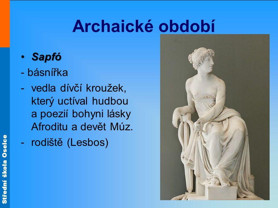 Archaické období Sapfó - básnířka