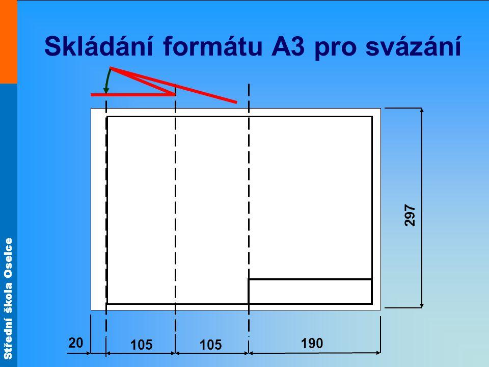 Skládání formátu A3 pro svázání