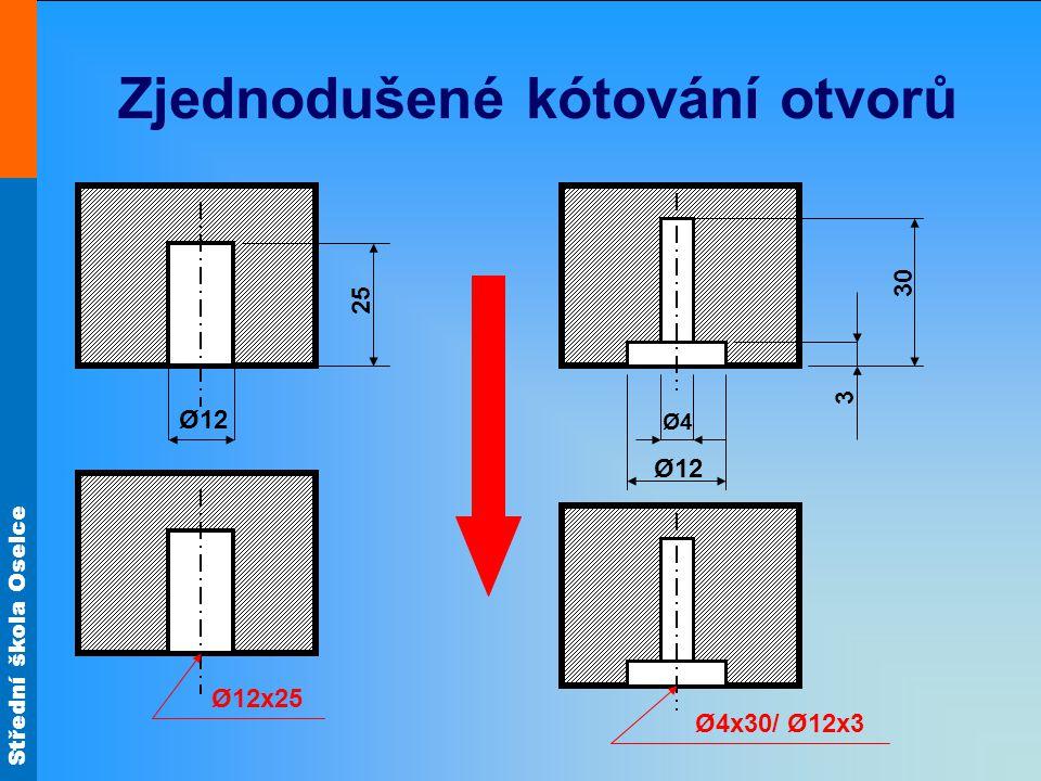 Zjednodušené kótování otvorů