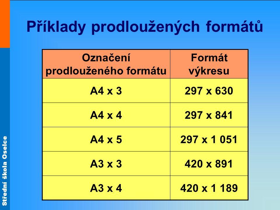 Příklady prodloužených formátů