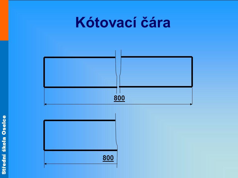 Kótovací čára 800