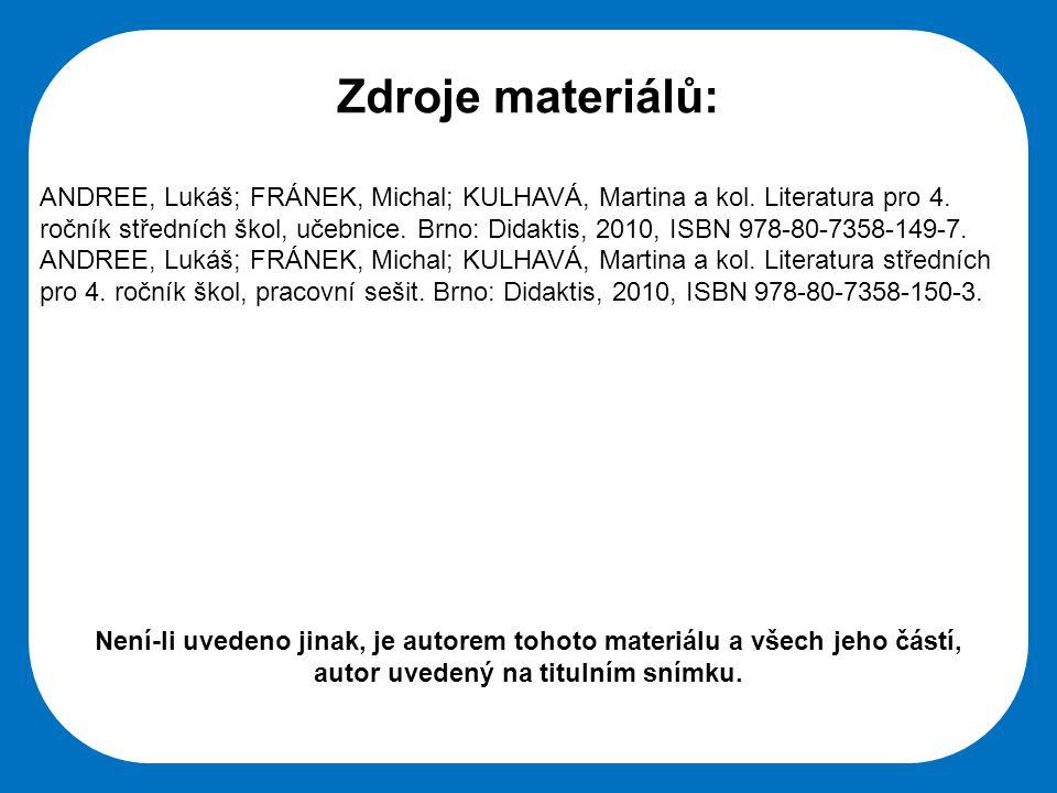 Zdroje materiálů: