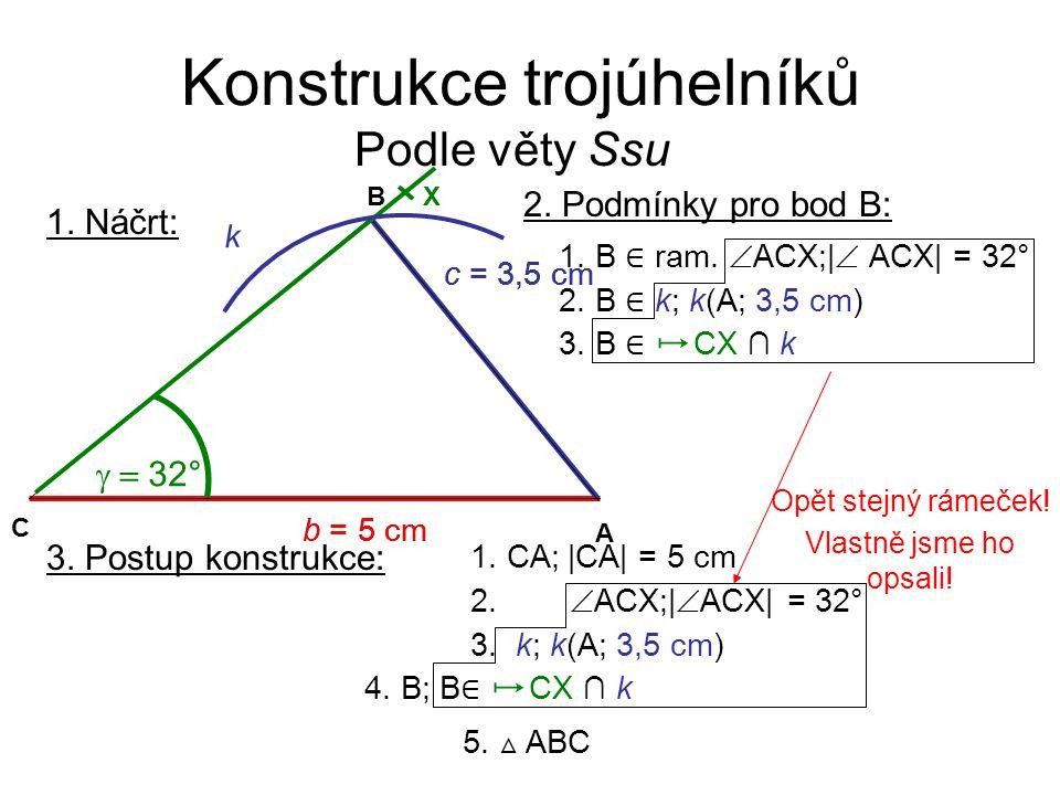 Konstrukce trojúhelníků