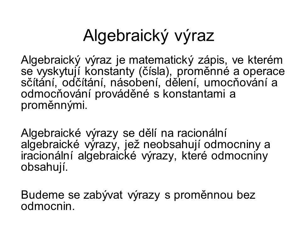 Algebraický výraz