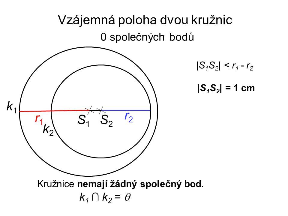 Vzájemná poloha dvou kružnic