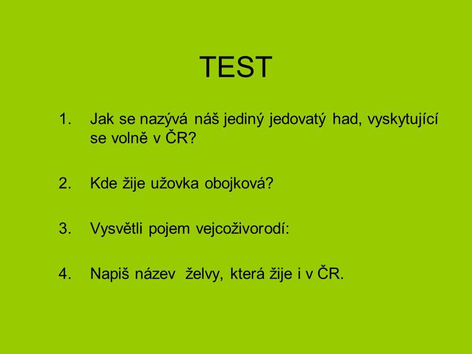 TEST Jak se nazývá náš jediný jedovatý had, vyskytující se volně v ČR