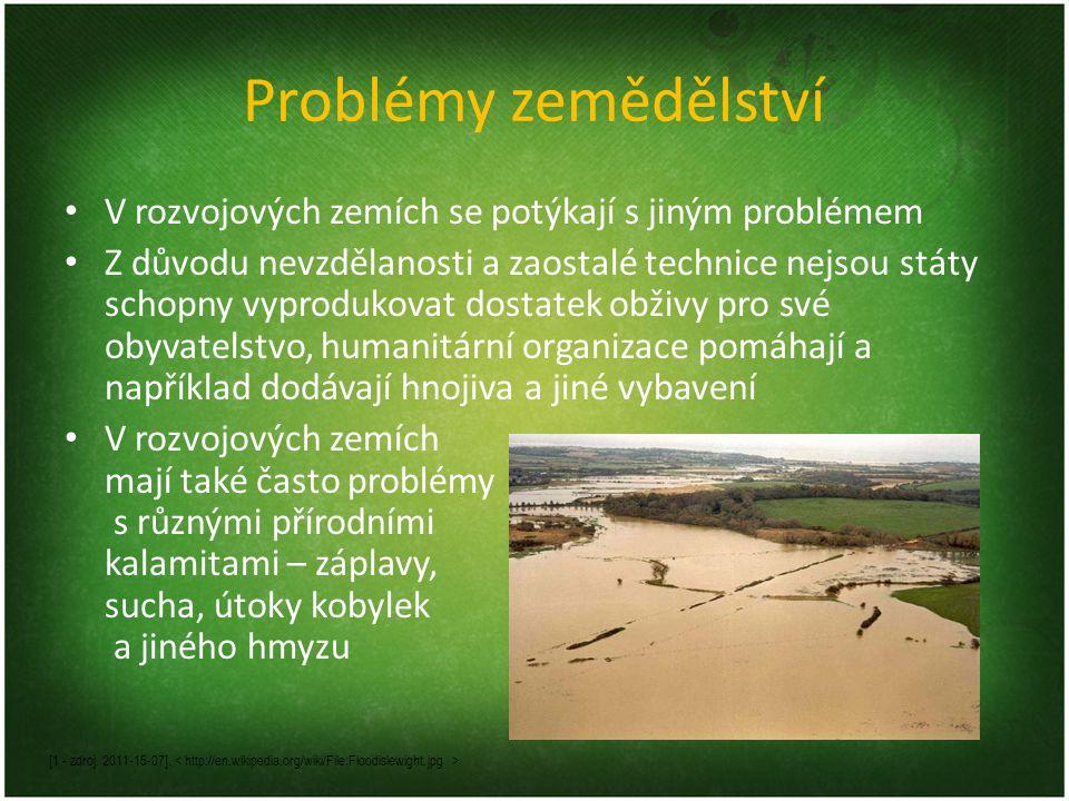 Problémy zemědělství V rozvojových zemích se potýkají s jiným problémem.