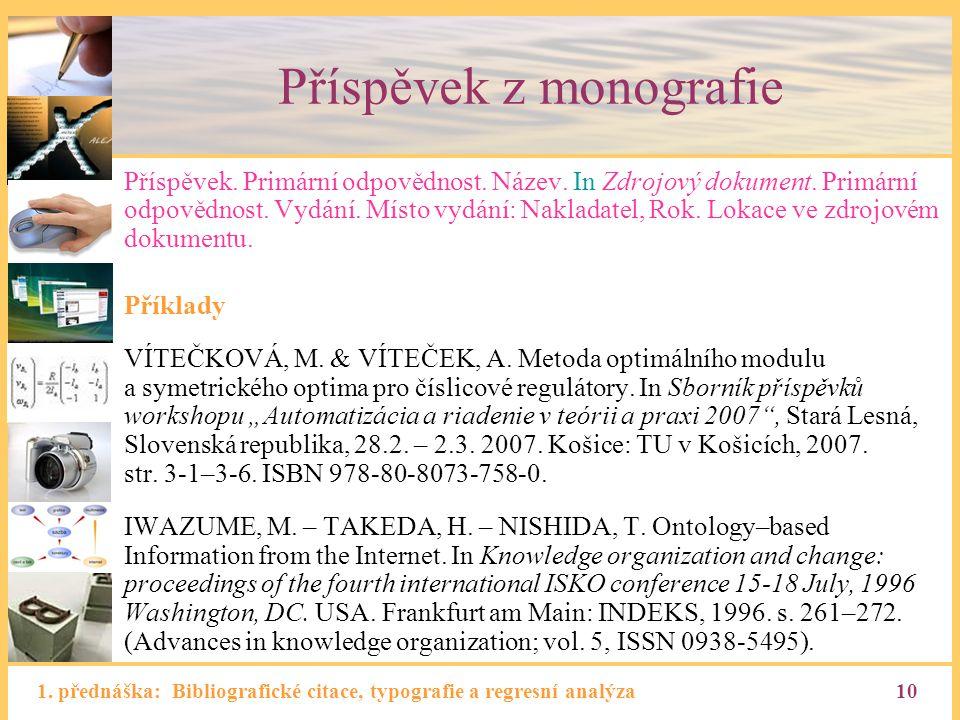 Příspěvek z monografie