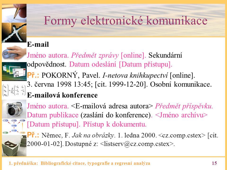 Formy elektronické komunikace
