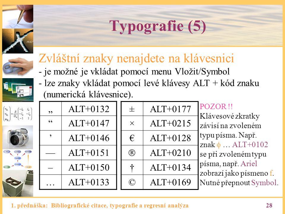 Typografie (5) Zvláštní znaky nenajdete na klávesnici