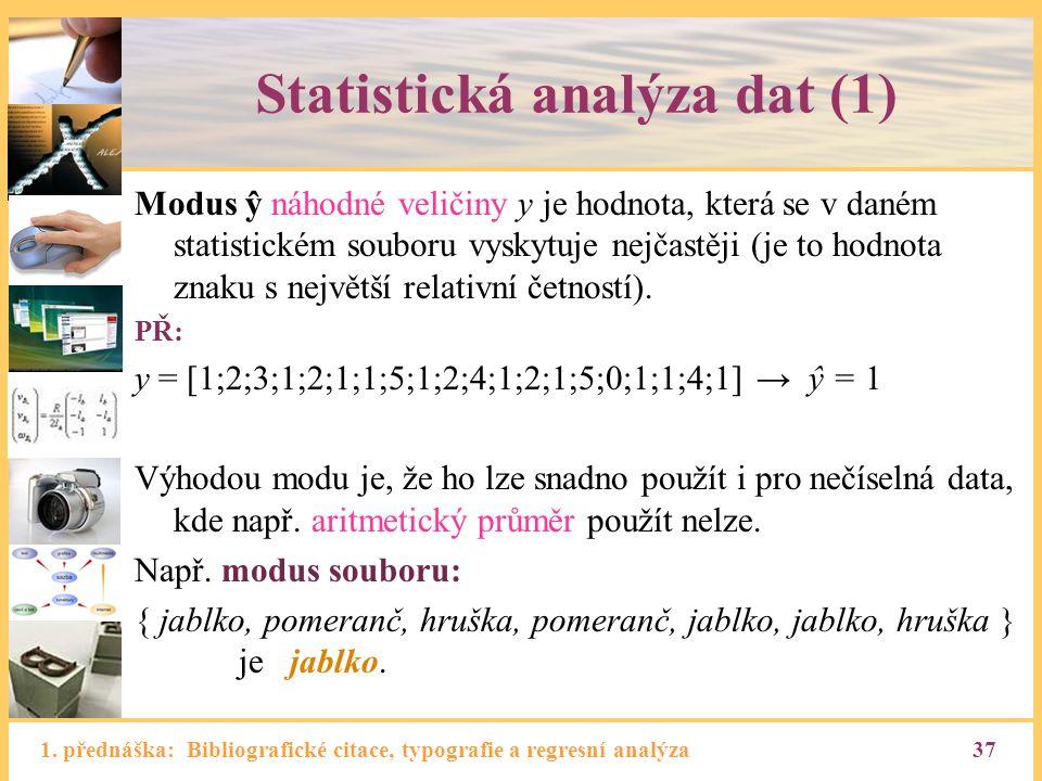 Statistická analýza dat (1)