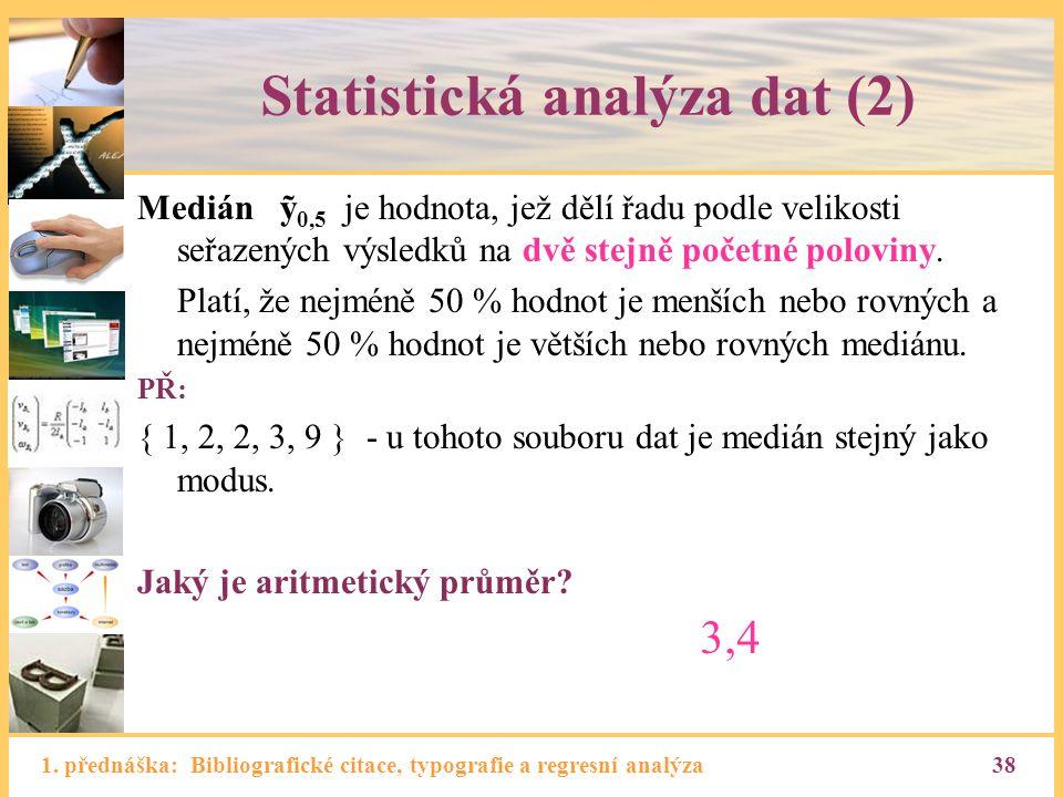 Statistická analýza dat (2)