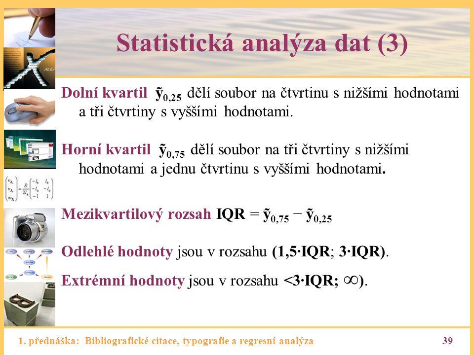 Statistická analýza dat (3)