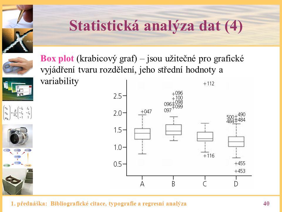 Statistická analýza dat (4)