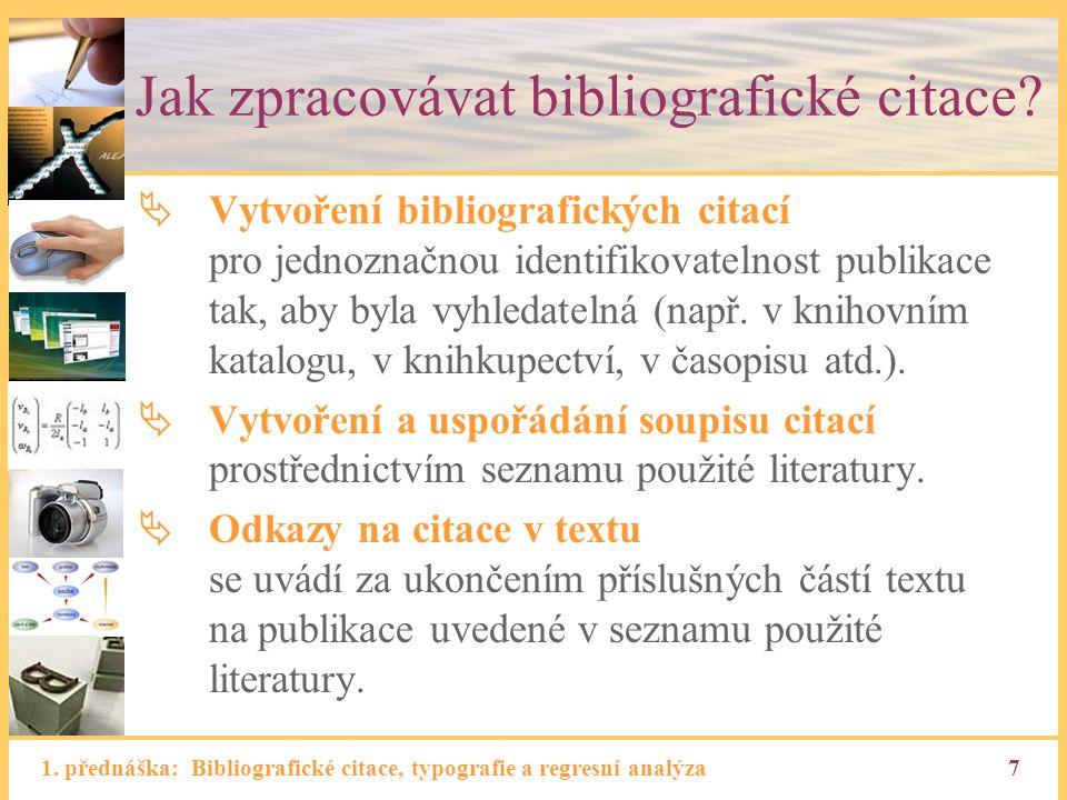 Jak zpracovávat bibliografické citace
