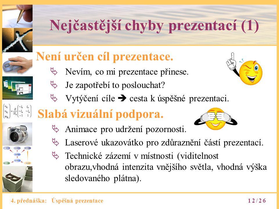 Nejčastější chyby prezentací (1)