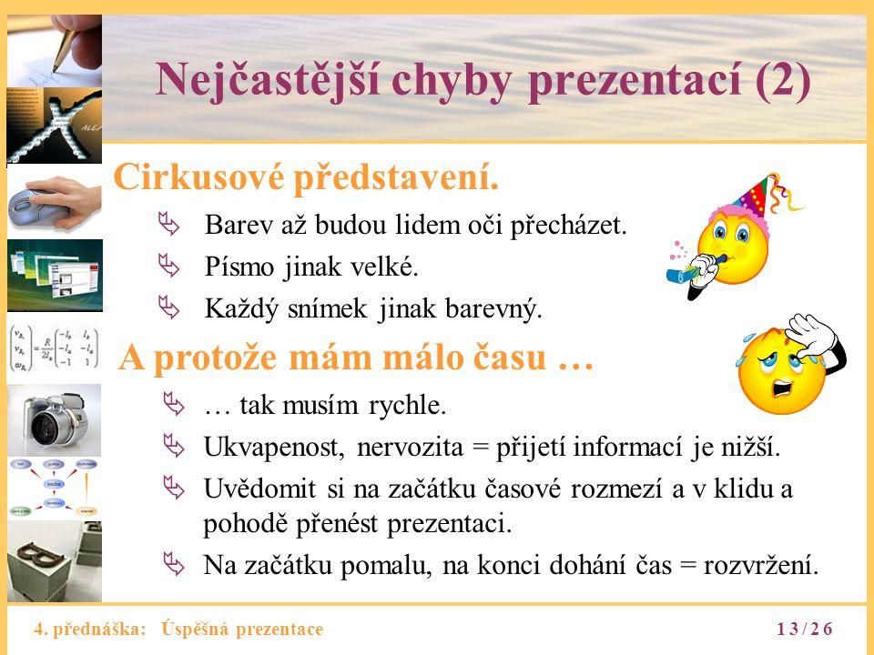 Nejčastější chyby prezentací (2)