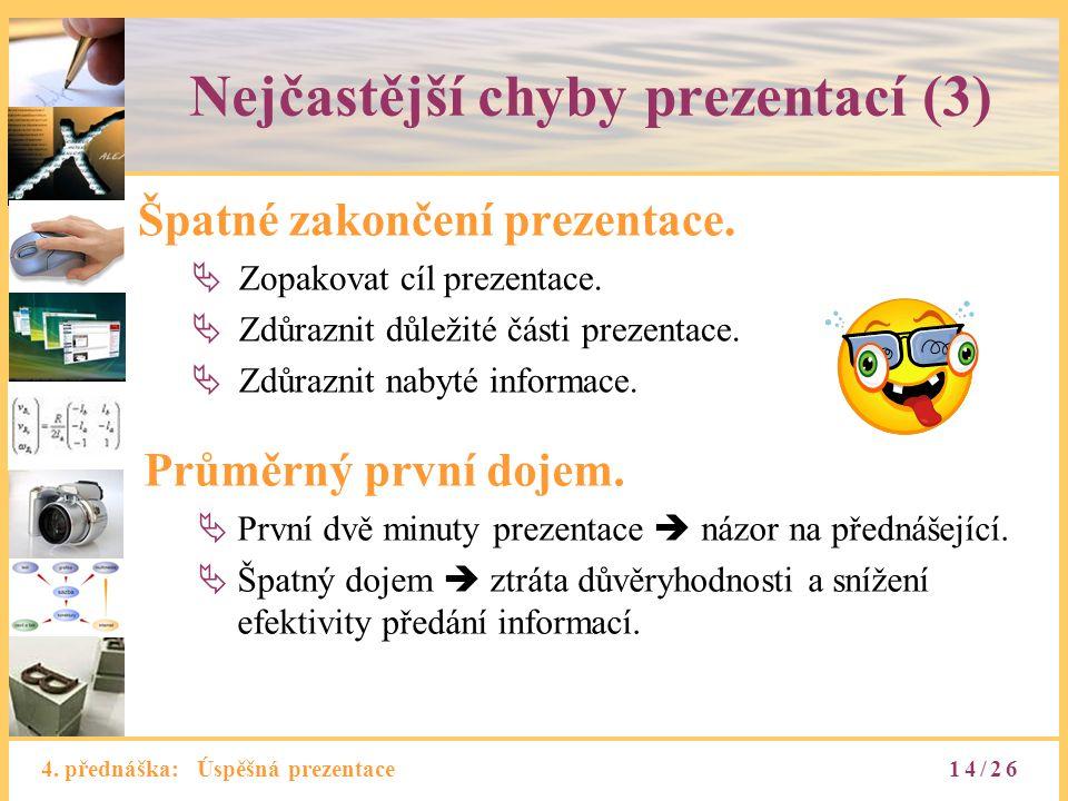 Nejčastější chyby prezentací (3)