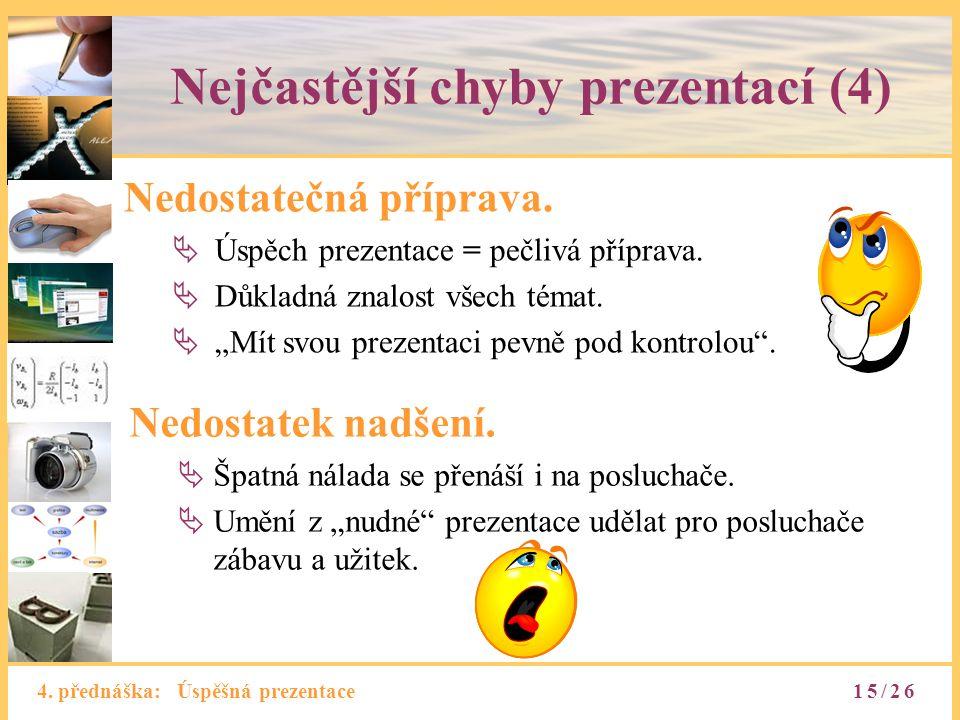 Nejčastější chyby prezentací (4)