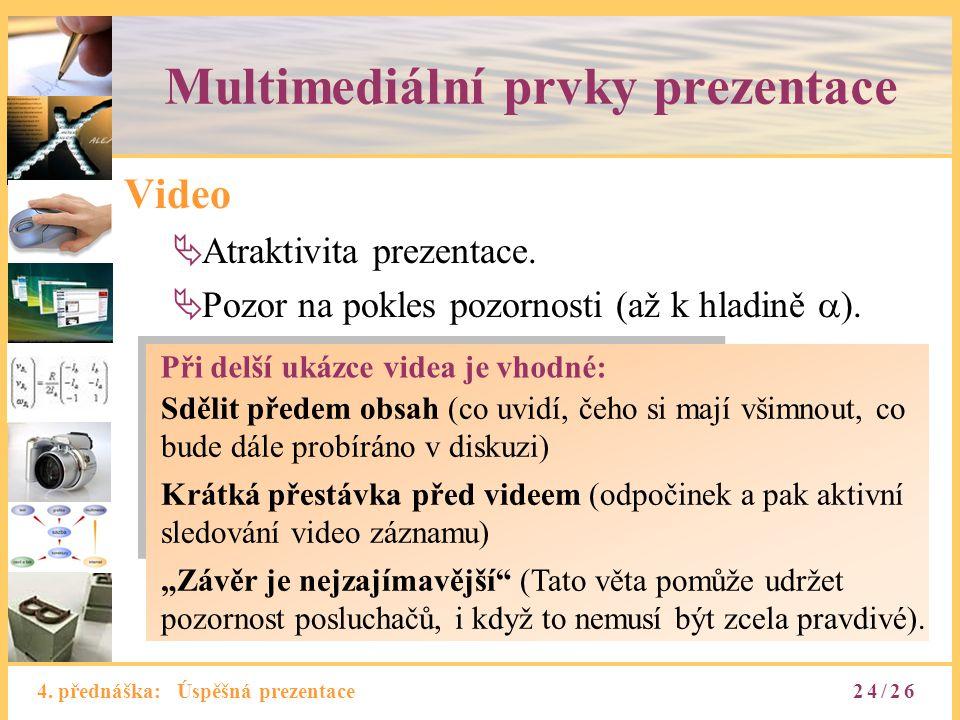 Multimediální prvky prezentace