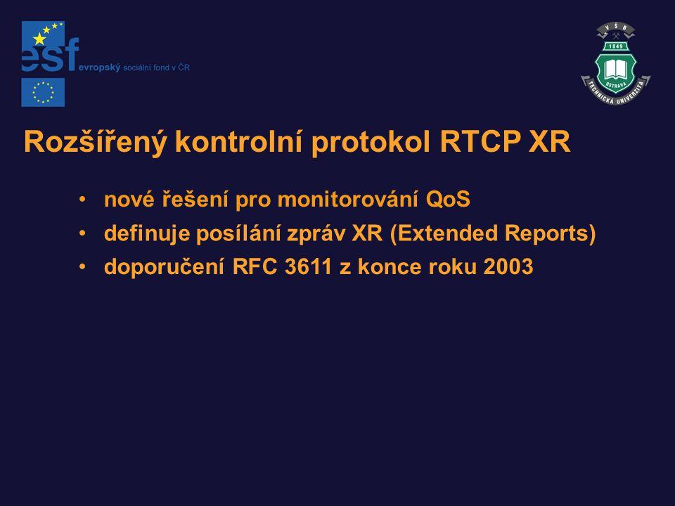 Rozšířený kontrolní protokol RTCP XR