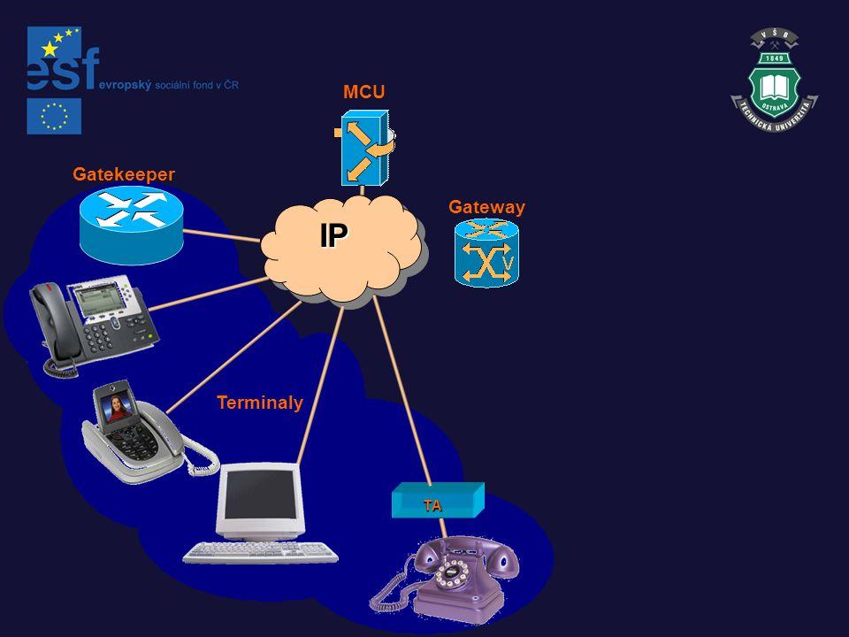 MCU Gatekeeper IP TA Gateway Terminaly