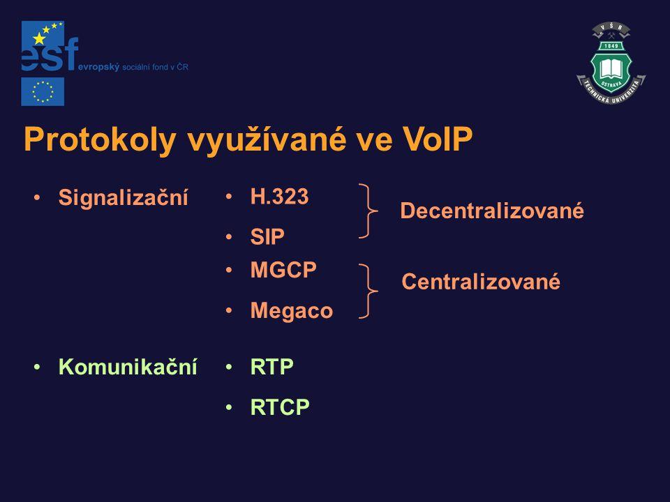 Protokoly využívané ve VoIP