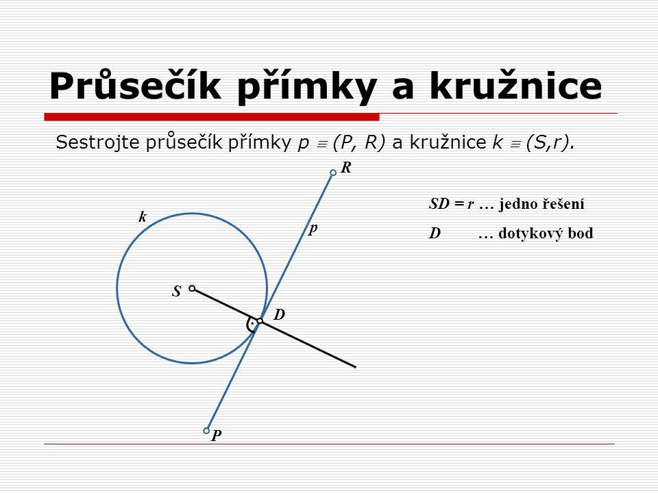 Průsečík přímky a kružnice