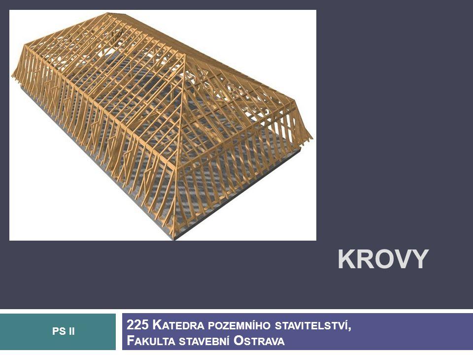 Krovy 225 Katedra pozemního stavitelství, Fakulta stavební Ostrava