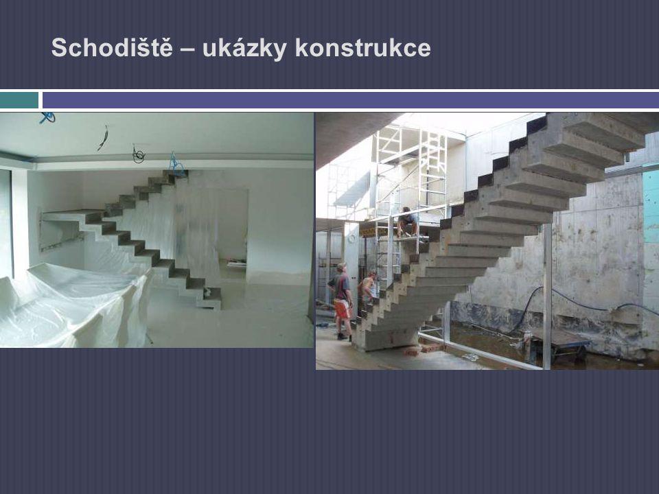 Schodiště – ukázky konstrukce