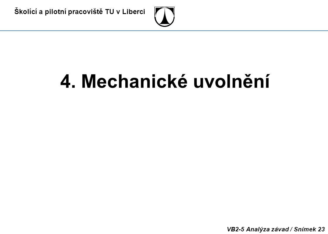 4. Mechanické uvolnění