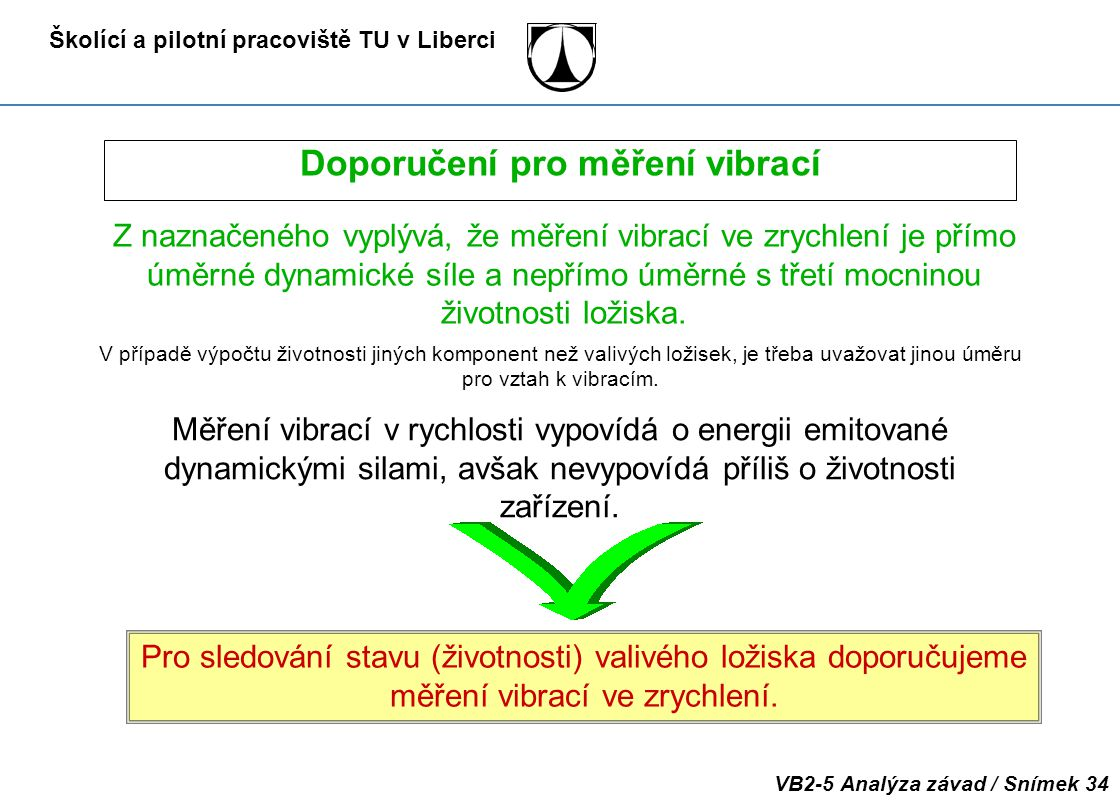Doporučení pro měření vibrací