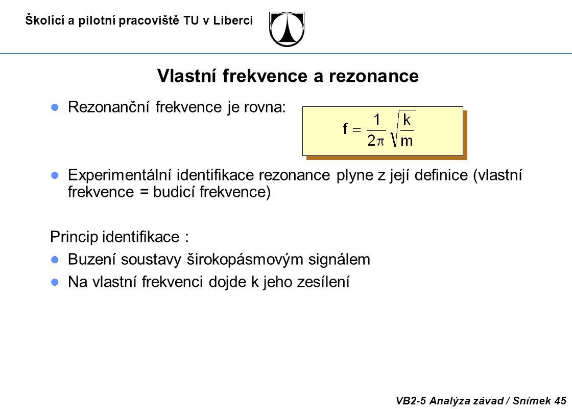Vlastní frekvence a rezonance