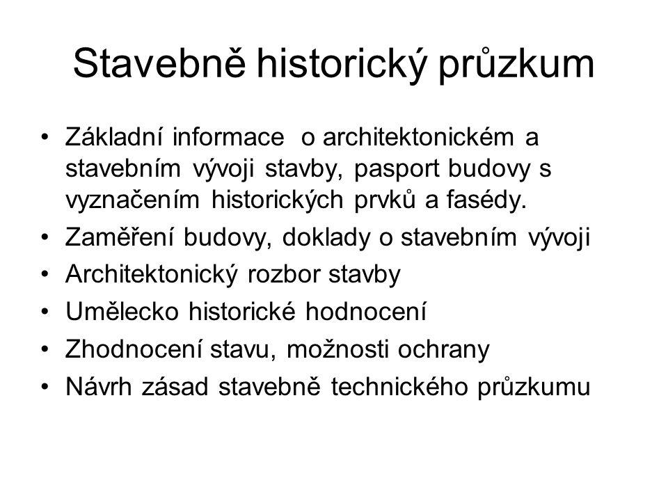 Stavebně historický průzkum
