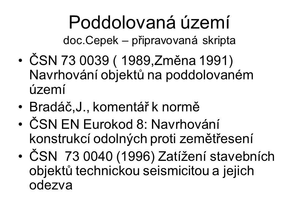 Poddolovaná území doc.Cepek – připravovaná skripta