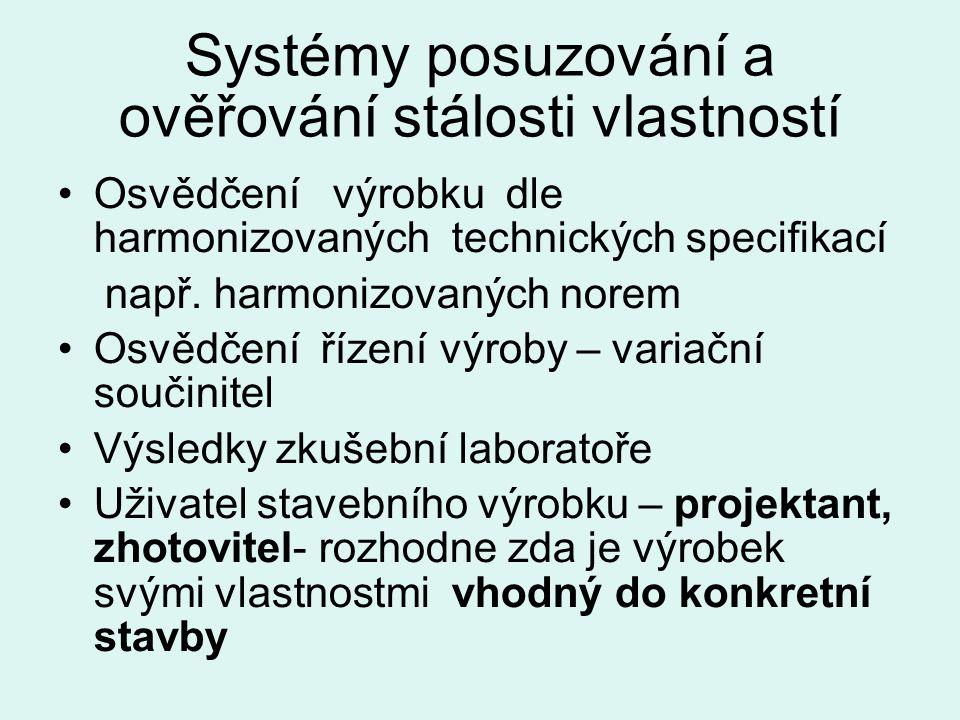 Systémy posuzování a ověřování stálosti vlastností