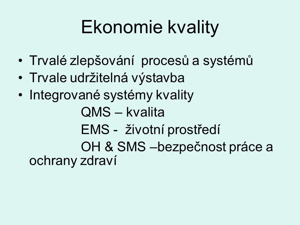 Ekonomie kvality Trvalé zlepšování procesů a systémů