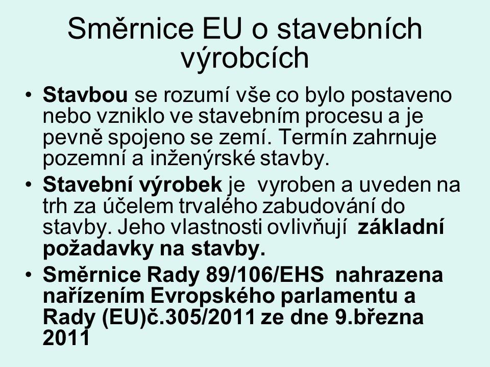 Směrnice EU o stavebních výrobcích