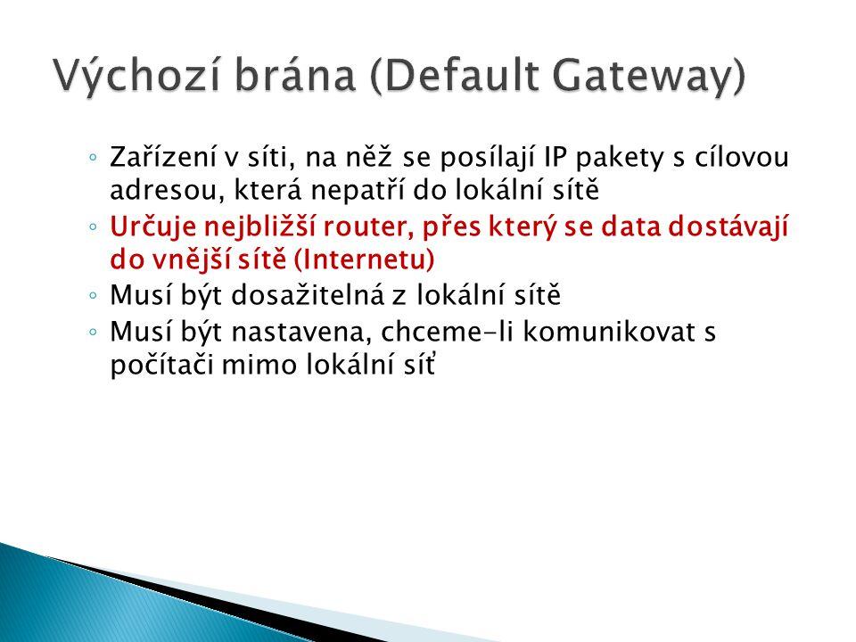 Výchozí brána (Default Gateway)