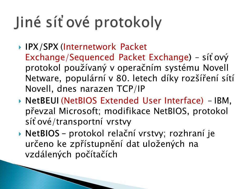 Jiné síťové protokoly