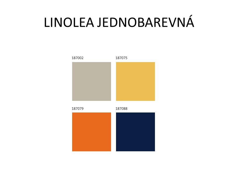 LINOLEA JEDNOBAREVNÁ 187002 187075 187079 187088